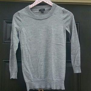 J. CREW gray tippi sweater